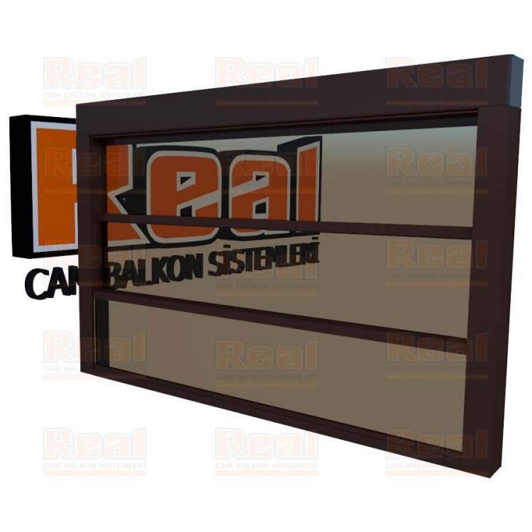 Giyotin Cam Balkon Bronz Cam Maun Profil