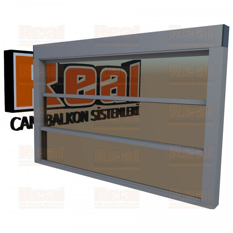 Giyotin Cam Balkon Bronz Cam Mat Eloksal Profil - Bronz Cam