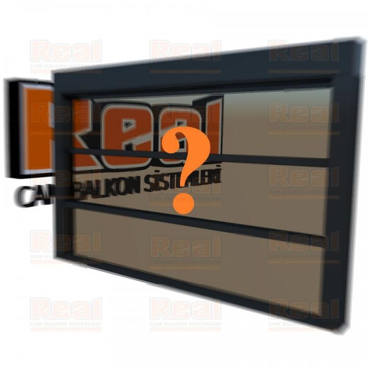 Giyotin Cam Balkon Bronz Cam Özel Renk Profil - Bronz Cam
