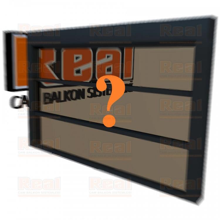 Giyotin Cam Balkon Isıcamlı Bronz Cam Özel Renk Profil - Bronz Cam