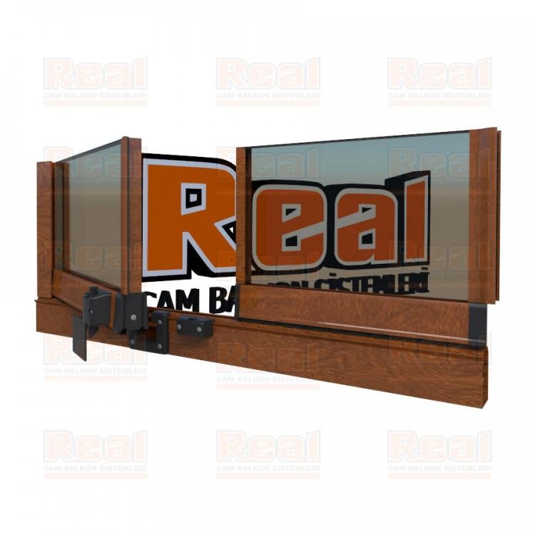 Pro Gold Isıcamlı 21 mm Bronz Cam Ahşap Altınmeşe Profil - Bronz Cam