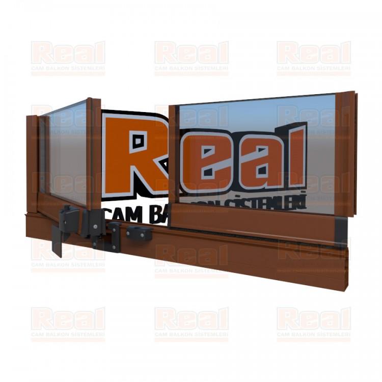 Pro Gold Isıcamlı 21 mm Şeffaf Cam Altınmeşe Profil - Şeffaf Cam