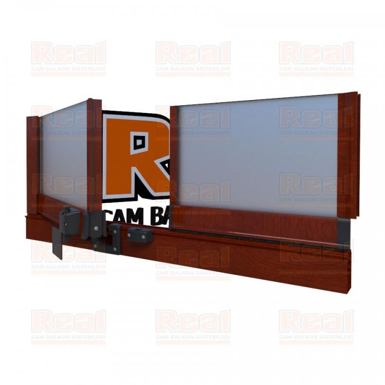 Pro Gold Isıcamlı 21 mm Satine Cam Ahşap Fındık Profil - Satine Cam