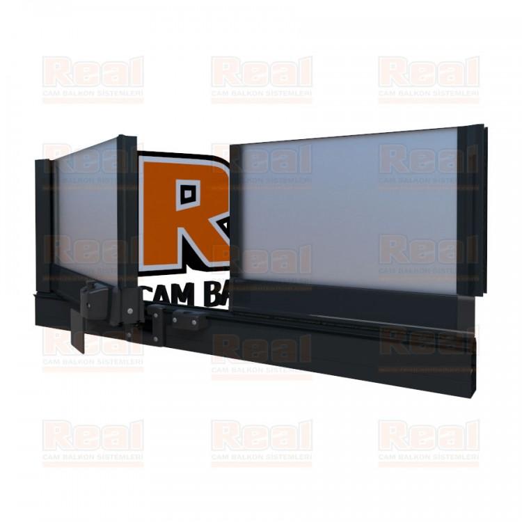 Pro Gold Isıcamlı 21 mm Satine Cam Antrasit Gri Profil - Satine Cam