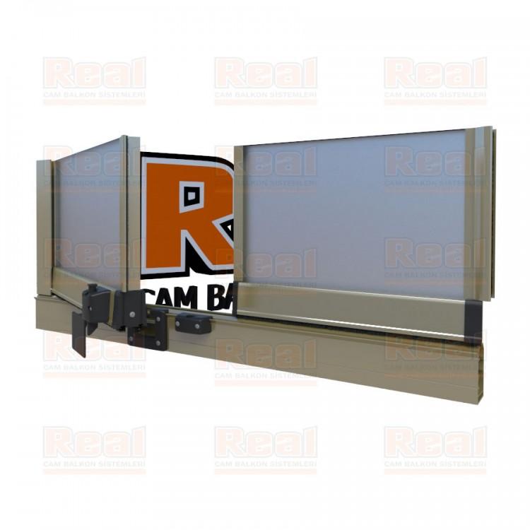 Pro Gold Isıcamlı 21 mm Satine Cam Parlak Bronz Profil - Satine Cam
