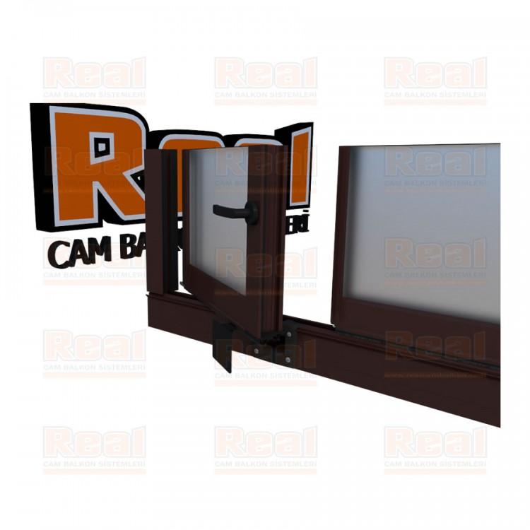 Pro Gold Ispanyolet Kollu 31 mm Satine Cam Maun Profil - Satine Cam