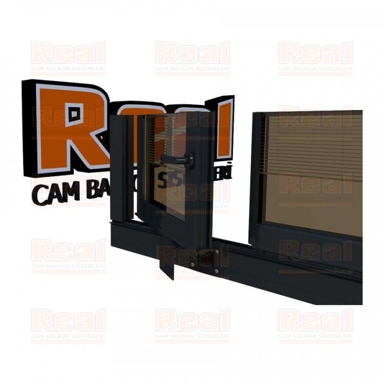 Pro Gold Ispanyolet Kollu 31 mm Bronz Cam Antrasit Gri Profil - Bronz Cam