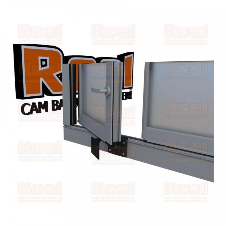 Pro Gold Ispanyolet Kollu 31 mm Satine Cam Mat Eloksal Profil - Satine Cam