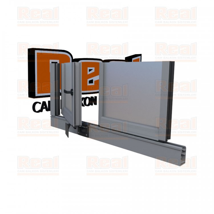 Pro Gold 8 mm Kollu Contalı Satine Cam Mat Eloksal Profil - Satine Cam