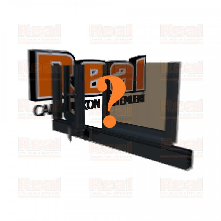 Pro Gold 8 mm Kollu Contalı Bronz Cam Özel Renk Profil - Bronz Cam