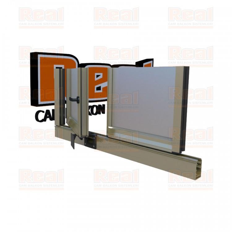 Pro Gold 8 mm Kollu Contalı Satine Cam Parlak Bronz Profil - Satine Cam