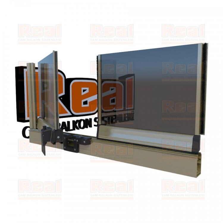 Pro Gold 8 mm Füme Cam Parlak Bronz Profil - Füme Cam