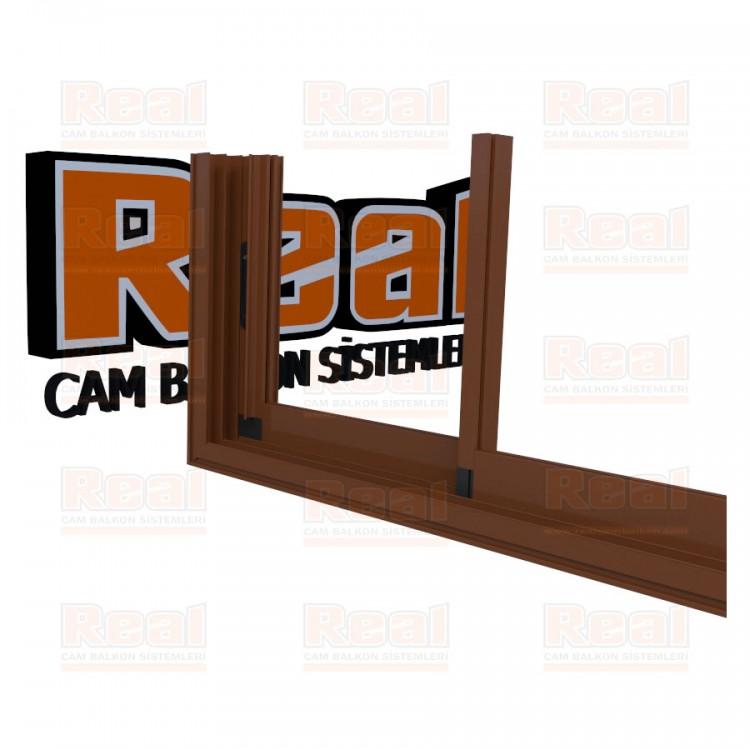 R3 Sürme Seri Eşikli 8 mm Camsız Altınmeşe Profil - Camsız