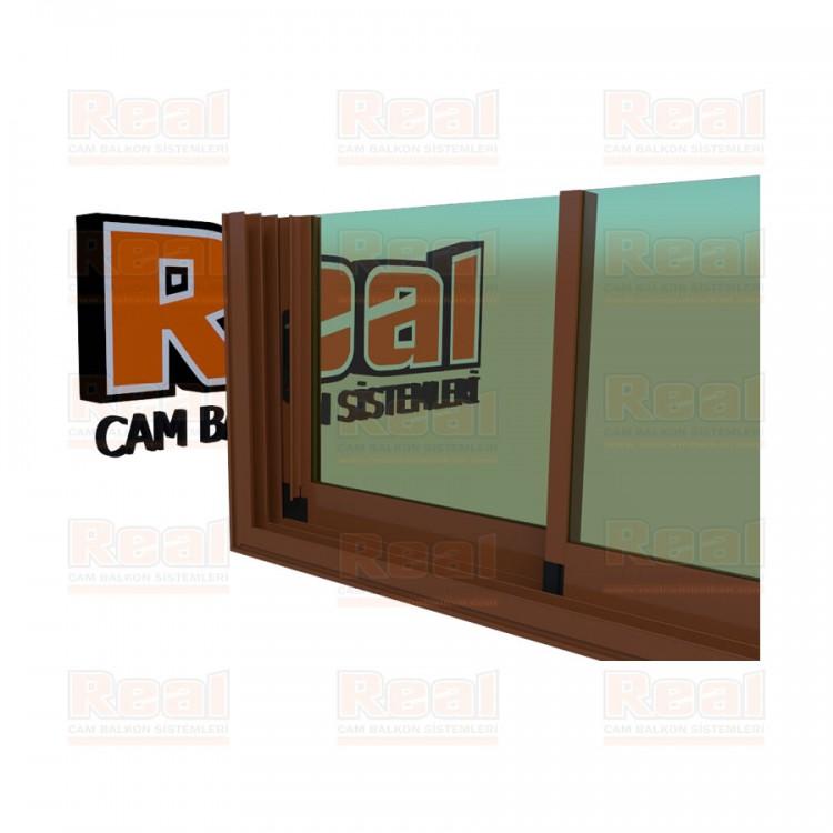 R3 Sürme Seri Eşikli 8 mm Yeşil Cam Altınmeşe Profil - Yeşil Cam