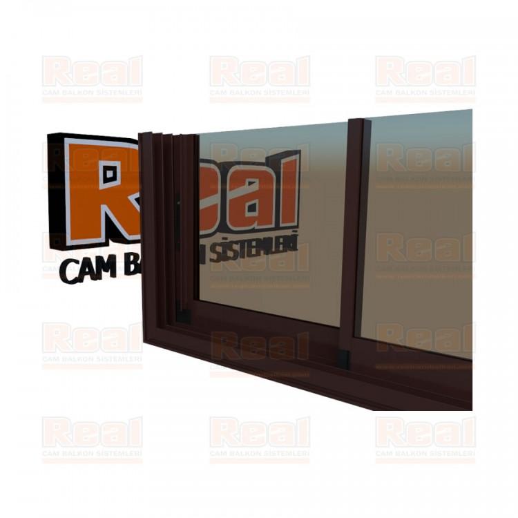 R3 Sürme Seri Eşikli 8 mm Bronz Cam Maun Profil - Bronz Cam