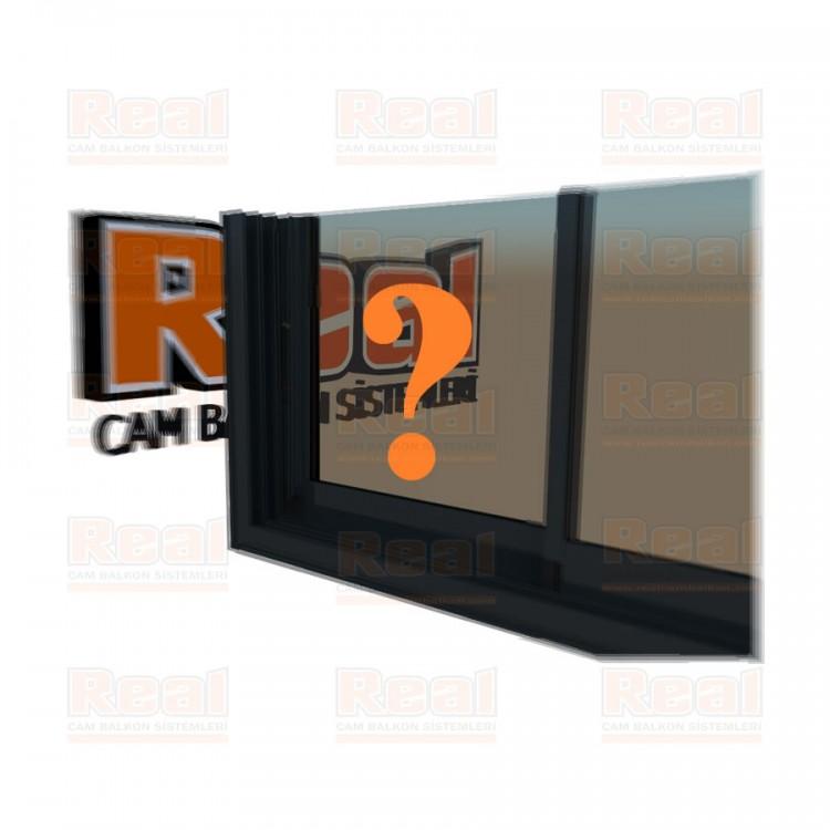 R3 Sürme Seri Eşikli 8 mm Bronz Cam Özel Renk Profil - Bronz Cam