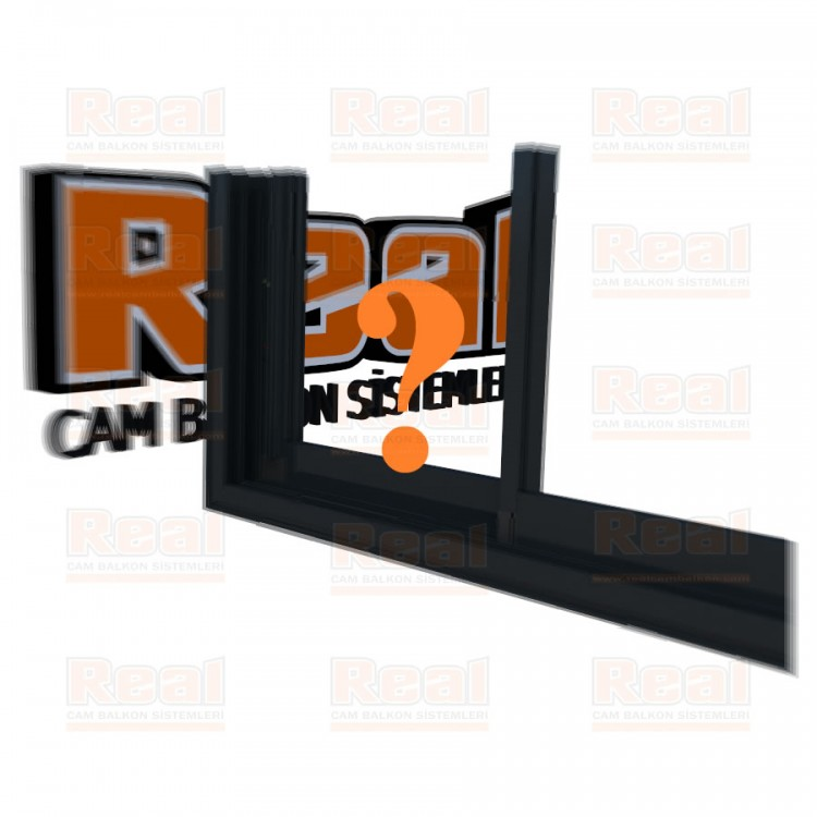 R3 Sürme Seri Eşikli 8 mm Camsız Özel Renk Profil - Camsız