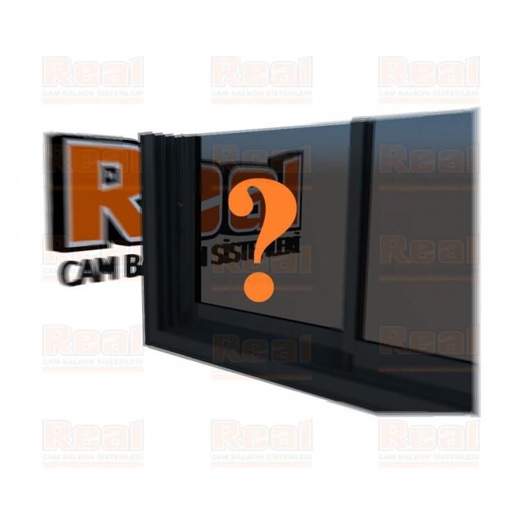 R3 Sürme Seri Eşikli 8 mm Füme Cam Özel Renk Profil - Füme Cam
