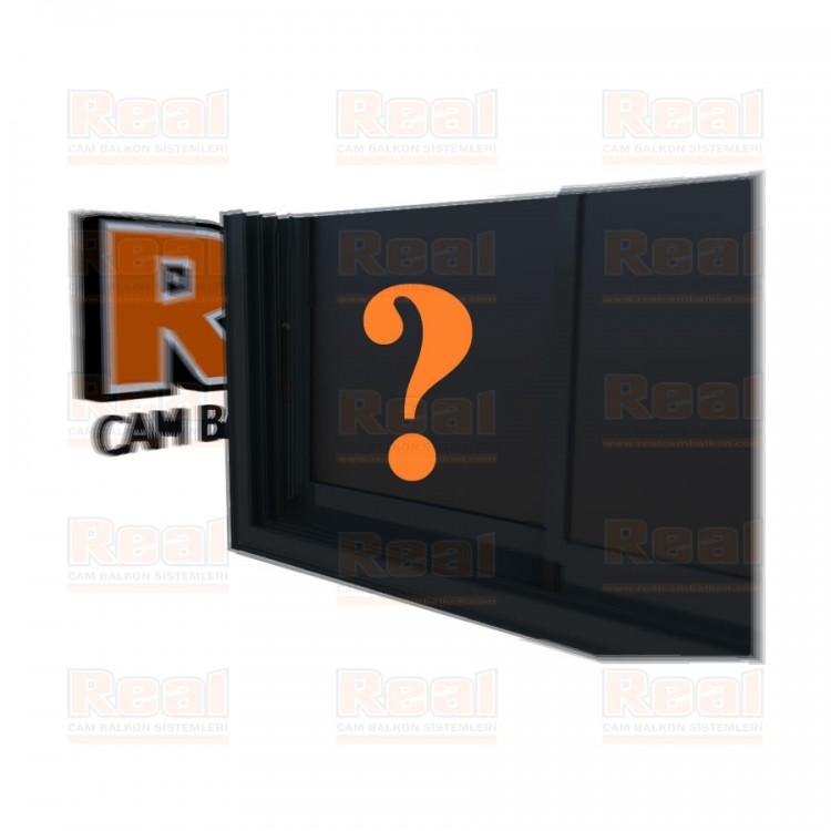 R3 Sürme Seri Eşikli 8 mm Füme Kumlu Cam Özel Renk Profil