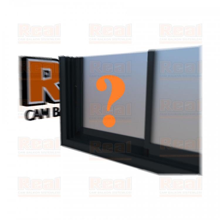 R3 Sürme Seri Eşikli 8 mm Satine Cam Özel Renk Profil - Satine Cam