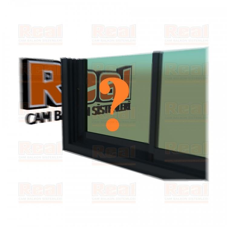 R3 Sürme Seri Eşikli 8 mm Yeşil Cam Özel Renk Profil - Yeşil Cam