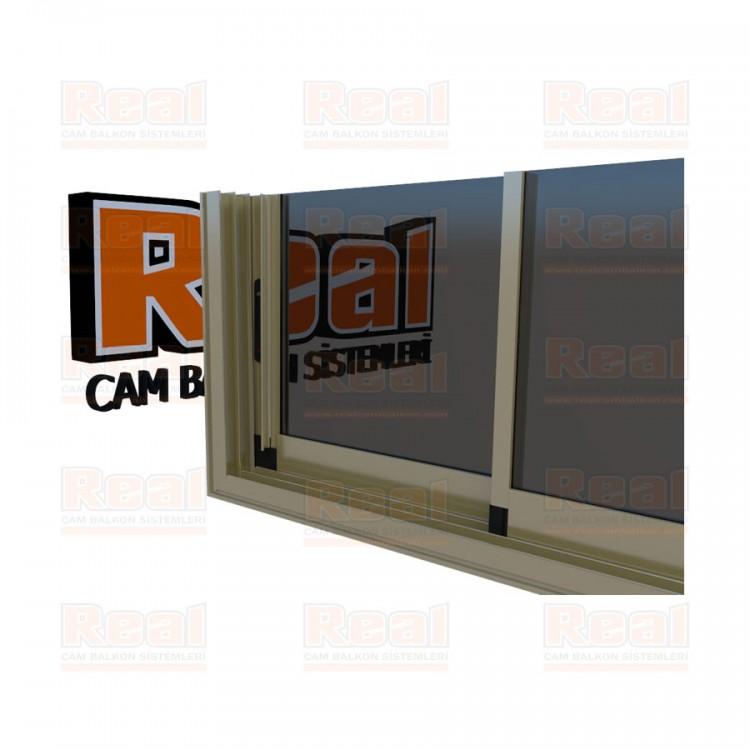 R3 Sürme Seri Eşikli 8 mm Füme Cam Bronz Profil