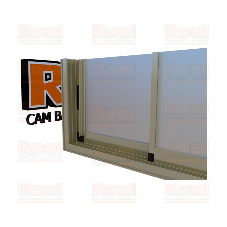 R3 Sürme Seri Eşikli 8 mm Satine Cam Parlak Bronz Profil - Satine Cam