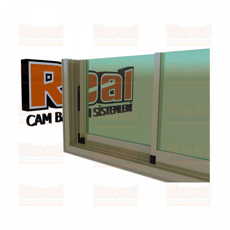 R3 Sürme Seri Eşikli 8 mm Yeşil Cam Bronz Profil - Yeşil Cam