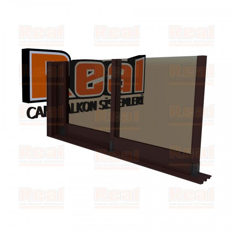 R3 Sürme Seri 8 mm Eşiksiz Bronz Cam Maun Profil - Bronz Cam