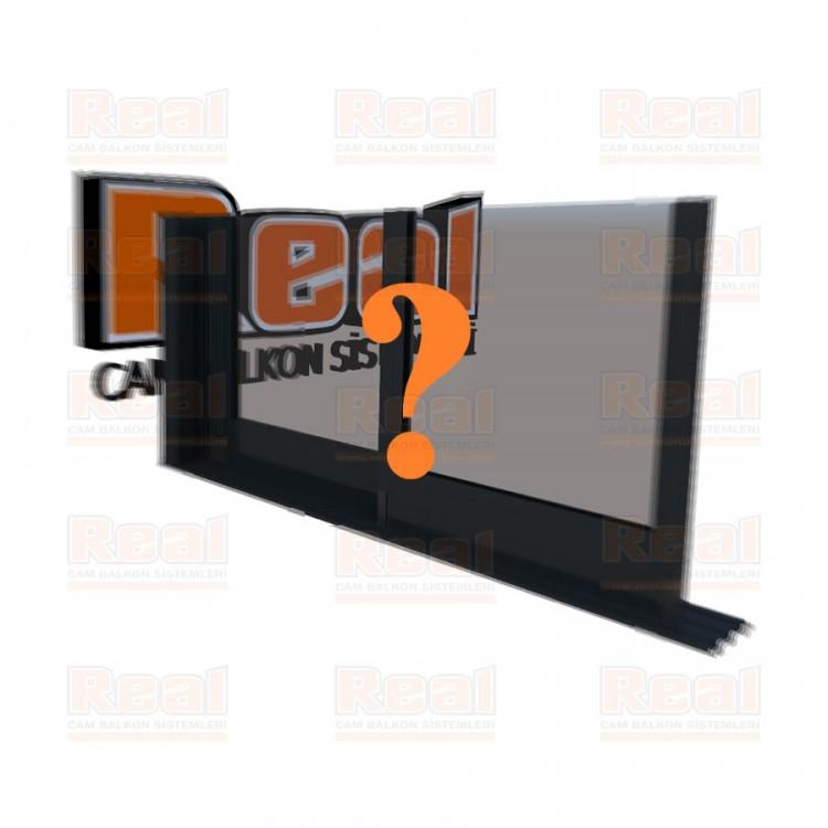 R3 Sürme Seri Eşiksiz Isıcamlı Şeffaf Cam Özel Renk Profil - Şeffaf Cam