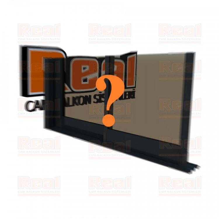 R3 Sürme Seri 8 mm Eşiksiz Bronz Cam Özel Renk Profil - Bronz Cam