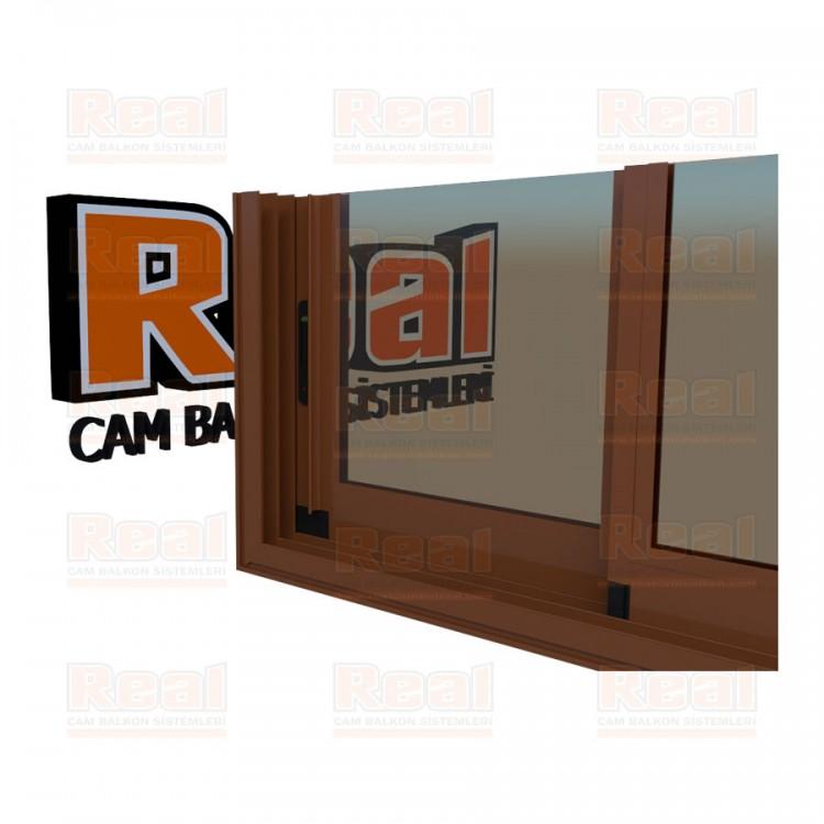 R3 Sürme Seri Eşikli Isıcamlı Bronz Cam Altınmeşe Profil - Bronz Cam