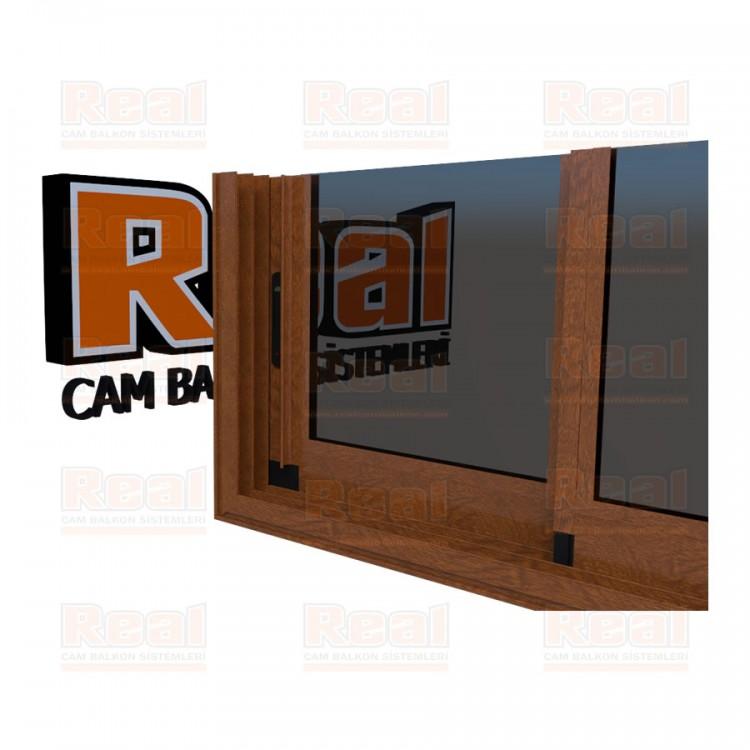 R3 Sürme Seri Eşikli Isıcamlı Füme Cam Ahşap Altınmeşe Profil