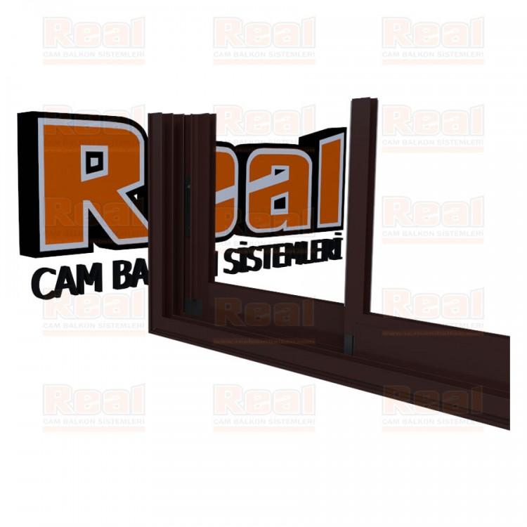 R3 Sürme Seri Eşikli Isıcamlı Camsız Maun Profil - Camsız
