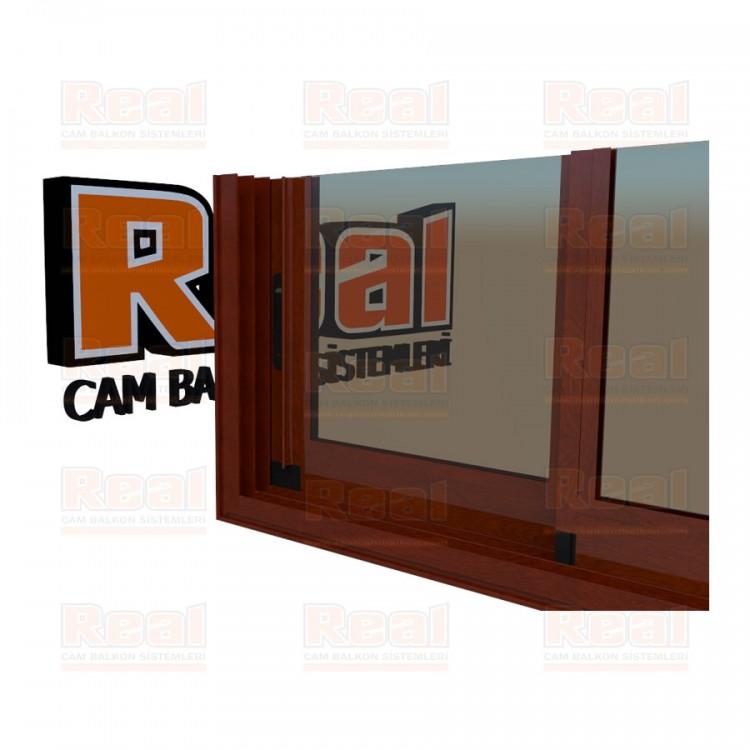 R3 Sürme Seri Eşikli Isıcamlı Bronz Cam Ahşap Fındık Profil