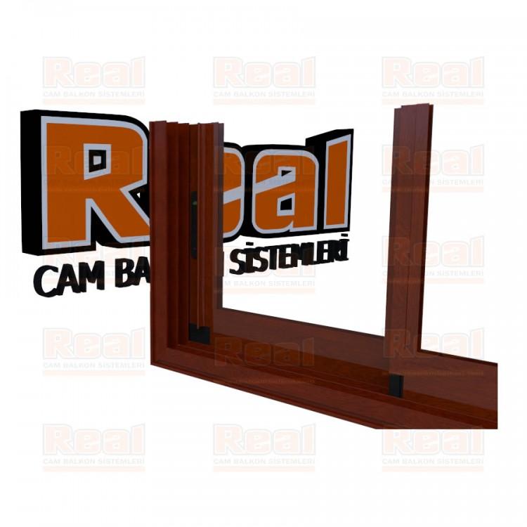 R3 Sürme Seri Eşikli Isıcamlı Camsız Ahşap Fındık Profil - Camsız