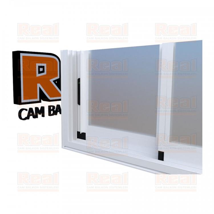 R3 Sürme Seri Eşikli Isıcamlı Satine Cam Beyaz Profil - Satine Cam
