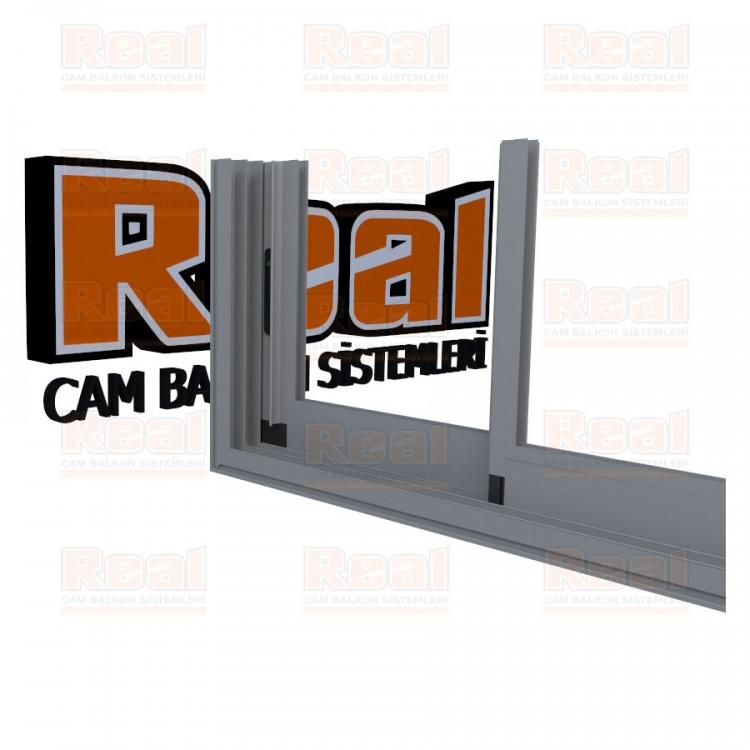 R3 Sürme Seri Eşikli Isıcamlı Camsız Mat Eloksal Profil