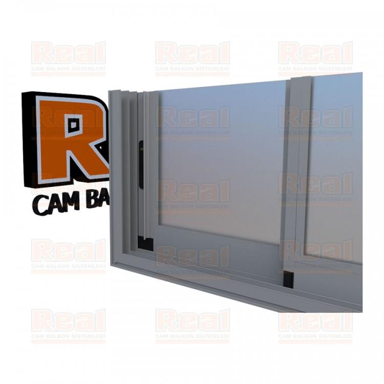 R3 Sürme Seri Eşikli Isıcamlı Satine Cam Mat Eloksal Profil - Satine Cam