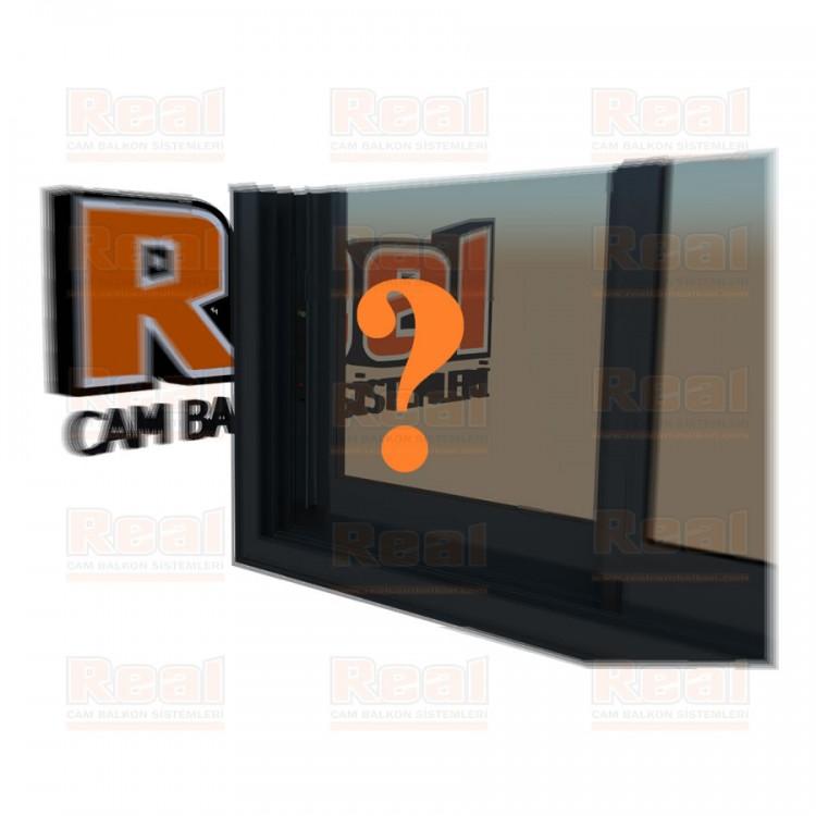 R3 Sürme Seri Eşikli Isıcamlı Bronz Cam Özel Renk Profil - Bronz Cam