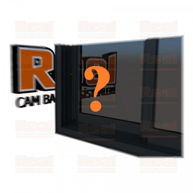R3 Sürme Seri Eşikli Isıcamlı Füme Cam Özel Renk Profil