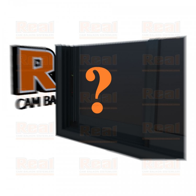 R3 Sürme Seri Eşikli Isıcamlı Füme Kumlu Cam Özel Renk Profil - Füme Kumlu
