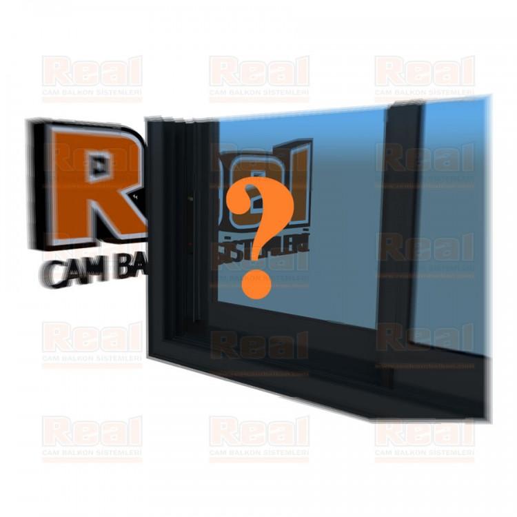 R3 Sürme Seri Eşikli Isıcamlı Mavi Cam Özel Renk Profil - Mavi Cam