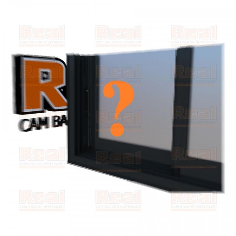 R3 Sürme Seri Eşikli Isıcamlı Satine Cam Özel Renk Profil - Satine Cam