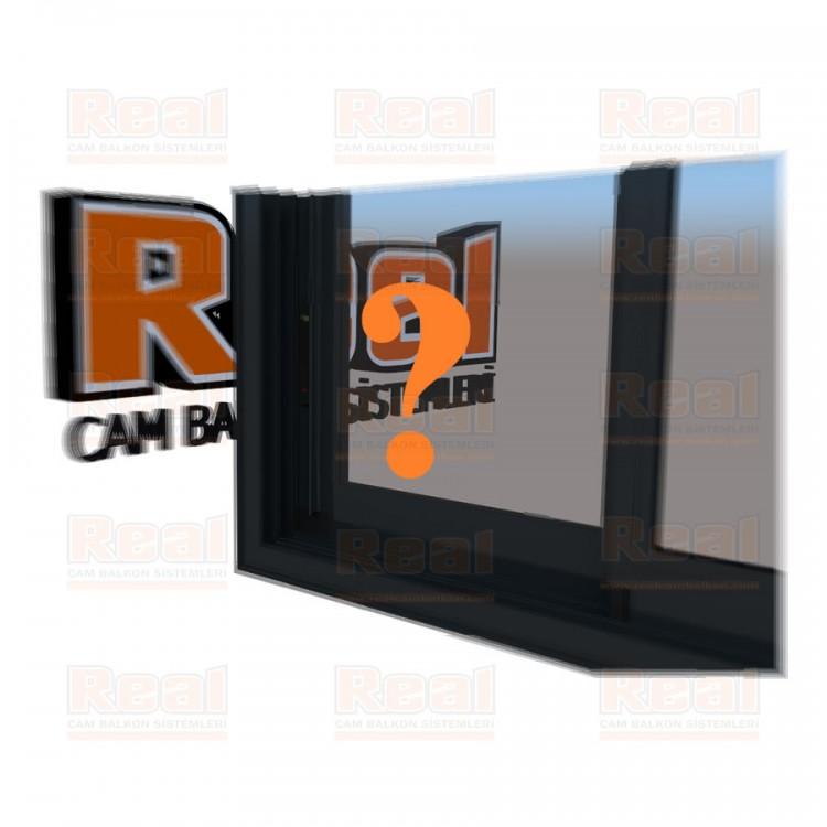R3 Sürme Seri Eşikli Isıcamlı Şeffaf Cam Özel Renk Profil - Şeffaf Cam