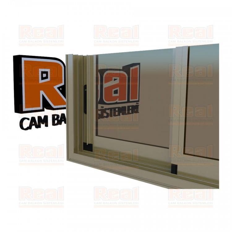 R3 Sürme Seri Eşikli Isıcamlı Bronz Cam Bronz Profil