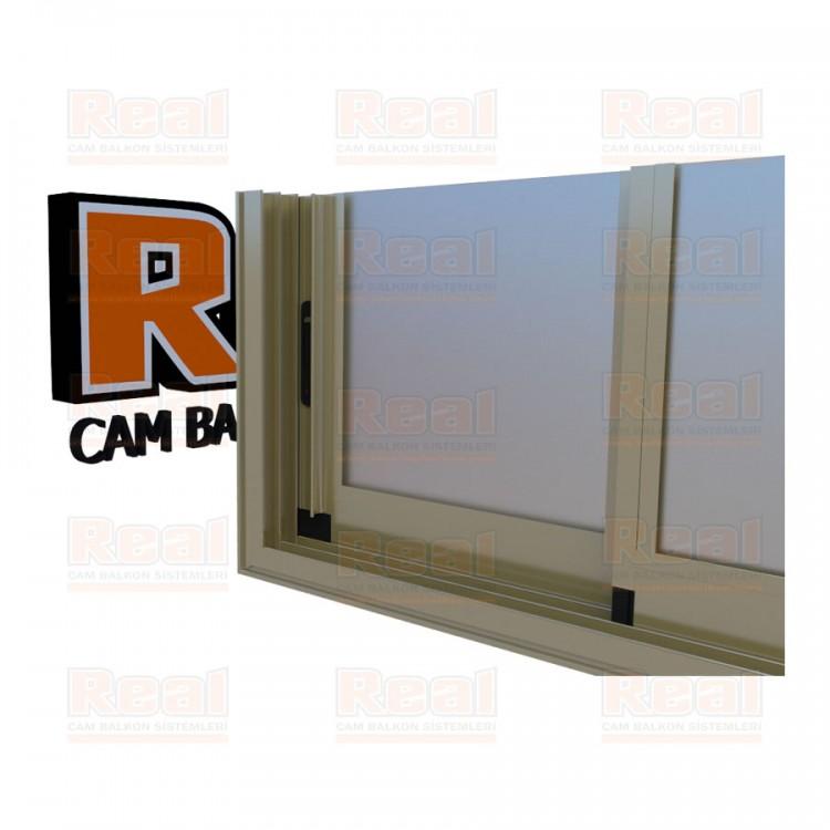 R3 Sürme Seri Eşikli Isıcamlı Satine Cam Parlak Bronz Profil - Satine Cam