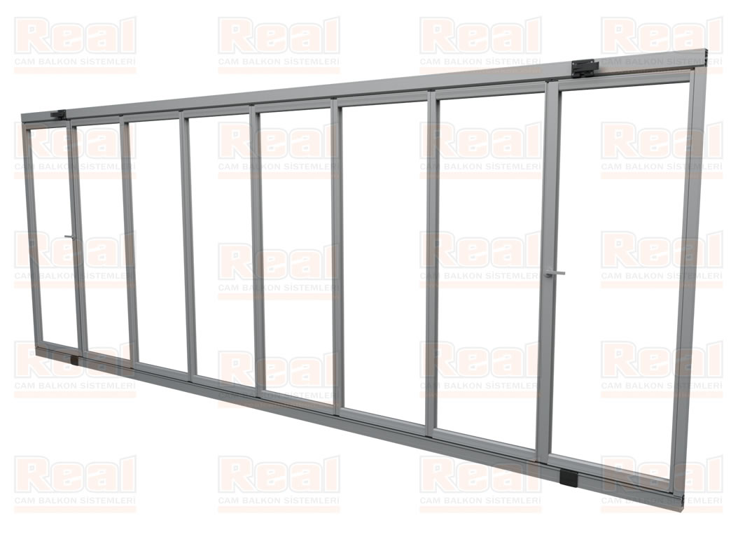 pro gold 8 mm ispanyolet kollu pvc contalı katlanır cam balkon